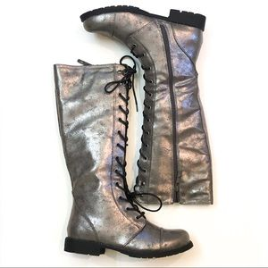 Dirty Laundry Roset Tall Metallic Combat Boot